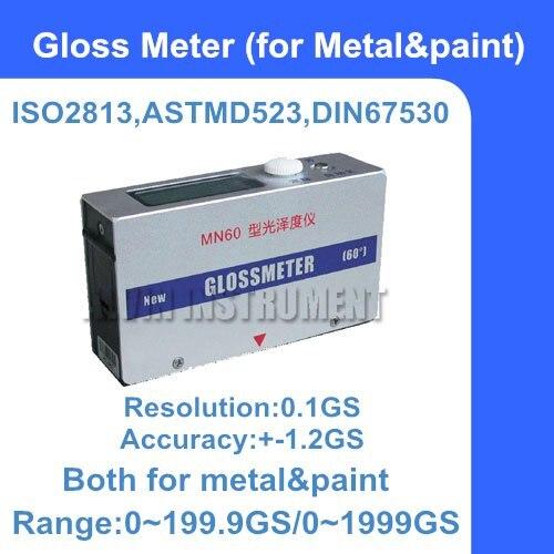 Medidor de Brilho Gloss Meter Medidor Universal Metal & Paint 0199.9gs – 01999gs Ângulo: 60 Graus Precisão: +-1.2gs Frete Grátis