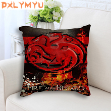 Linen Cushion Game of Thrones Sofa Pillow Case Cover The Movie Poster logo office Chair Seat for Home Decor