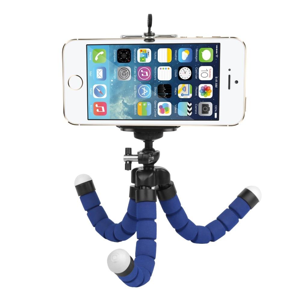 Shoot esponja trípode flexible del pulpo del trípode para el teléfono con soport