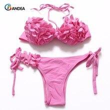 Bandea bain maillot halter bikinis bathing push bikini swimsuit swimwear beach
