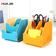 Multi-function Pen Holder Desk Storage Box Office Desktop Pencil Organizer Container Student Gifts School Supplies HJ9918