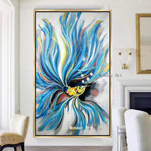 Artist Hand-painted High Quality Animal Gold Fish Oil Painting on Canvas handmade for Kitchen wall Decor gift
