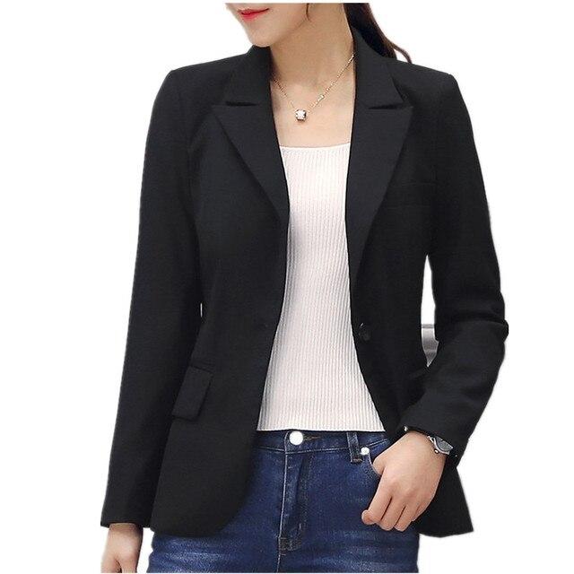 07ba702d40 Plus size pequeno paletó feminino primavera escritório trabalho preto  blazer mulheres blazer feminino magro jpg 640x640