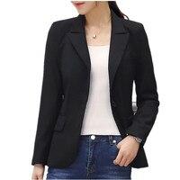 Plus Size 4XL Small Suit Jacket Female 2019 Blazer Feminino Spring Work Office Black Blazer Women Slim Jackets Ladies Tops C3269