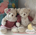35 cm Teddy bear With Polka Dot Dress Plush Stuffed Bear Toy  New Year Gift
