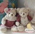 35 cm urso de Pelúcia Com Vestido de Bolinhas de Pelúcia Urso de Brinquedo de Pelúcia Presente de Ano Novo
