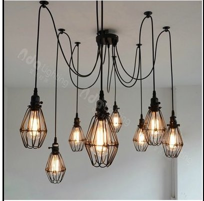 5 headers Light bulbs Lamp spider America retro cage industrial personality chandelier hif3ba 50pd 2 54r mc headers