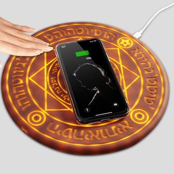 10W Universal Magic Circle Wireless Charger Qi Wireless Fast Quick Charging Pad for iPhone X XS 8 Samsung Huawei Honor Xiaomi