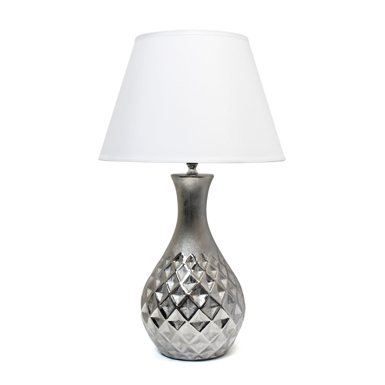 Elegant Designs Juliet Ceramic Table Lamp with Metallic Silver Base and White Fabric Shade shakespeare william rdr cd [lv 2] romeo and juliet