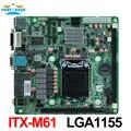 LGA1155 Socket i7 Industrial Motherboard-ITX-M61 support Core i3/i5/i7 Pentium 22nm/32nm CPU with 9*USB/6*COM