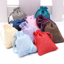 5pcs Size 6.5x8.5cm Cotton Bags Christmas Halloween Gift Box Packaging Wedding Candy Chocolate