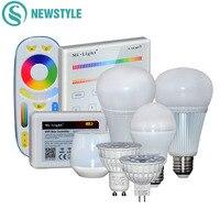 Milight RGBCCT Полный 4 цвета Вт, 6 Вт, 9 Вт, 12 Вт, светодиодный лампы GU10 MR16 E27 Светодиодные лампы свет лампы для внутренней декорации дистанционного У...
