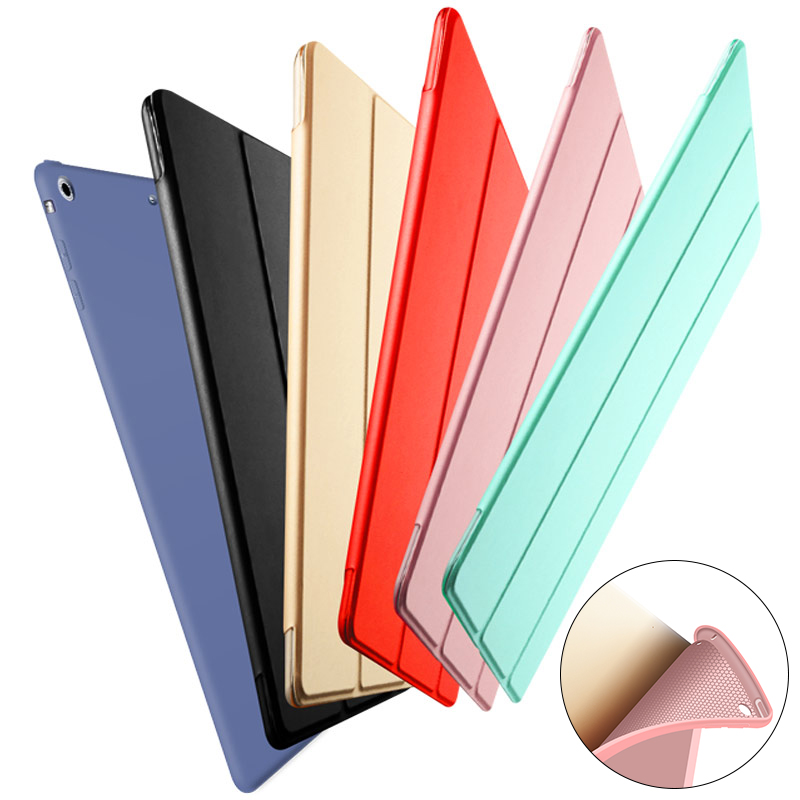 Case for iPad 2018 2017 9.7 Magnetic Stand Silicone Soft Back Cover for iPad 6th 5th Generation A1893 A1954 A1822 A1823 Funda
