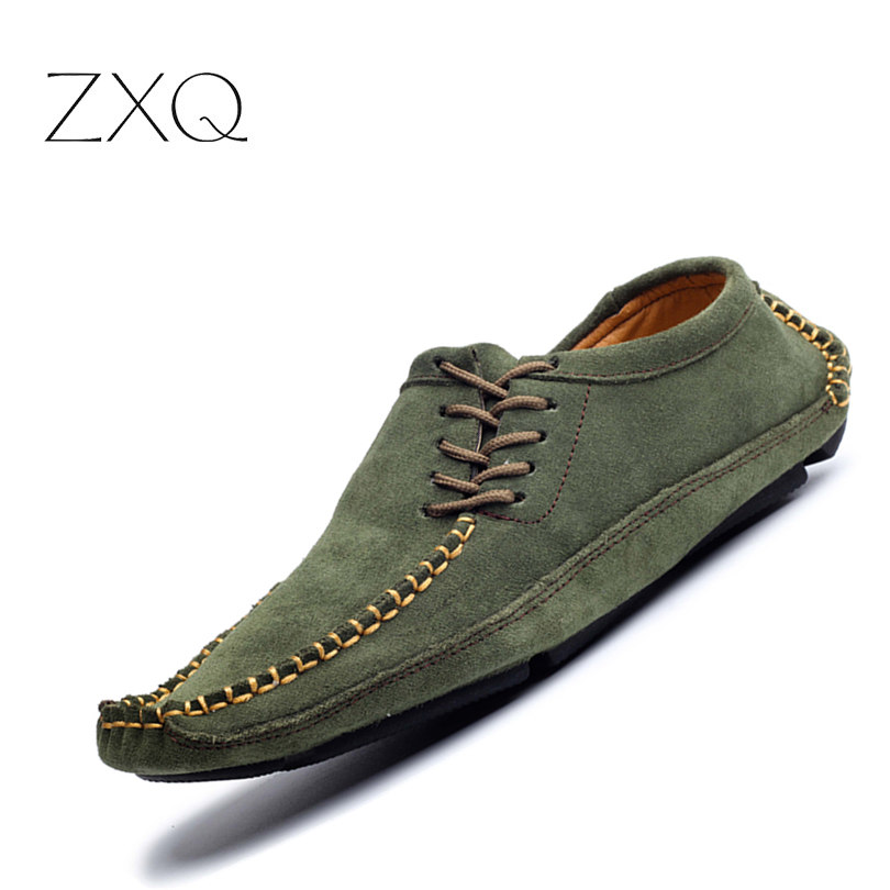 Brand Men Summer Casual Shoes Cow Split Nubuck Leather Male Handmade Driving Moccasin Shoes Loafers Shoes brand summer casual men suede brathe slip on loafers driving shoes fahion boat shoe handmade leather moccasin shoes for men
