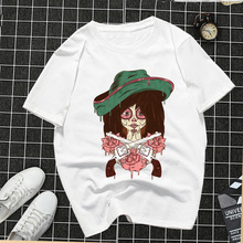 Women Clothes 2019 Female T-shirt Dangerous Girls Printed White Women Tops Casual Tees O-Neck Aesthetic Streetwear T Shirt dangerous women