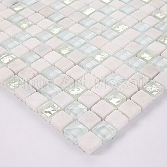 Mosaikfliesen Weiß glänzend weiß glasmosaik silber mosaik fliesen matt stein mosaik