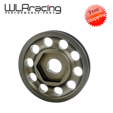 WLRING STORE Free shipping- Racing Light Weight Aluminum For Civic EK9 Integra DC2 Type R Crank Pulley CTR WLR-CP010