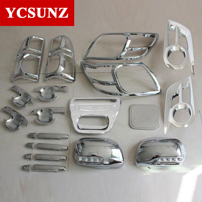 Chrome Car Accessories ABS Chrome Kits For Toyota Hilux Vigo SR5 2012 2014 Double Cabin