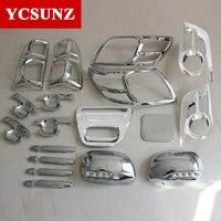 2012 2014 For Toyota Hilux Chrome Accessories ABS Chrome Kits For Toyota Hilux Vigo Car Styling Decorative Hilux Parts Ycsunz