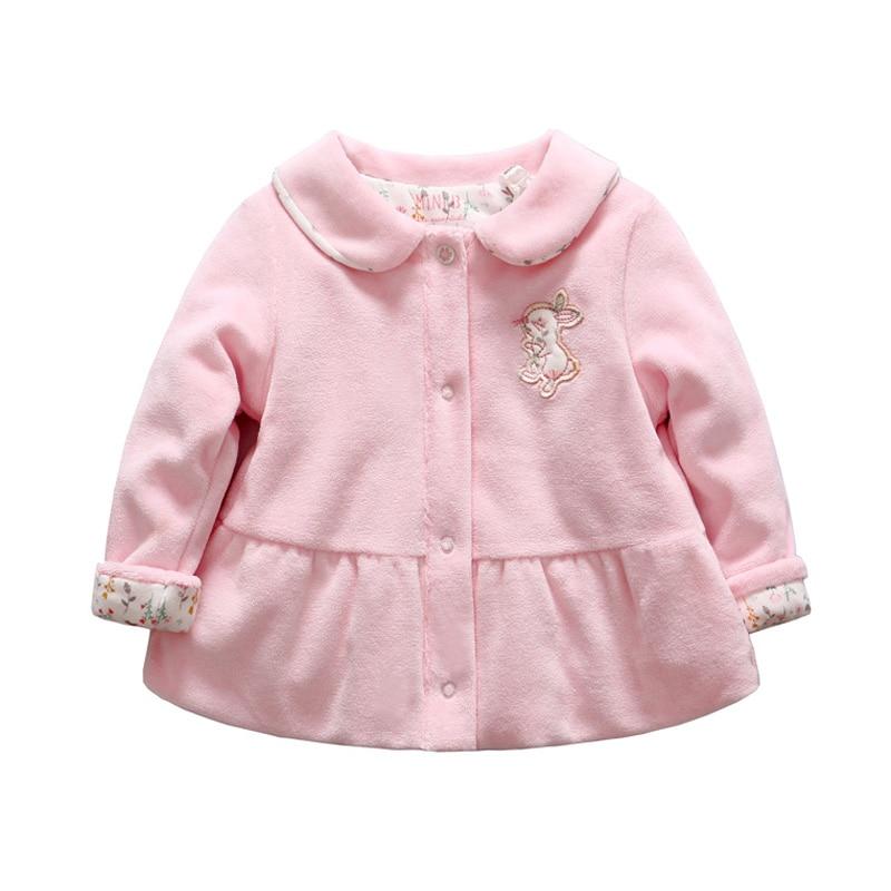 Baby meisje winterjas konijn patroon waarschuw baby ganzendons kleren bloemen afgedrukte sneeuw slijtage voor de leeftijd van 0 tot 12 maanden