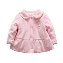 Baby girl winter coat rabbit pattern warn baby goose down clothes floral printed snow wear for age 0 to 12 months(China)
