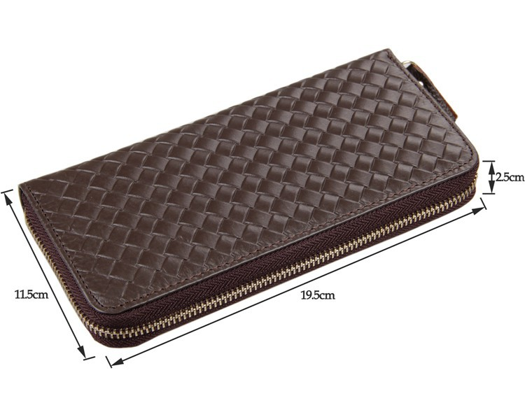 Fashion Larger Capacity 100 Real Genuine Leather Purse Wallet Coffee Carteira 8067C in Wallets from Luggage Bags