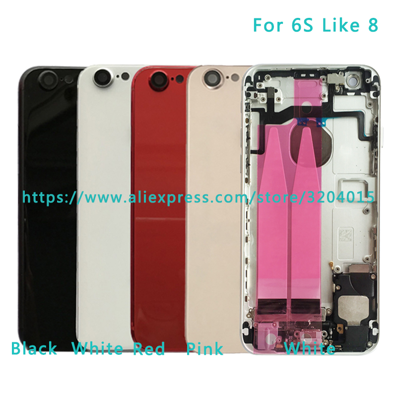 AAA Back Middle Frame Chassis For IPhone 6S like 8 6S Plus Like 8 Full Housing Assembly  ...