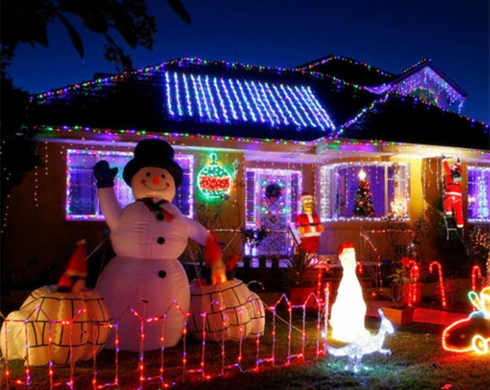 65m solar led lamp 30leds fairy icicle solar power string light christmas holiday decoration garden waterproof outdoor lightingusd 1284piece - Solar Garden Christmas Decorations