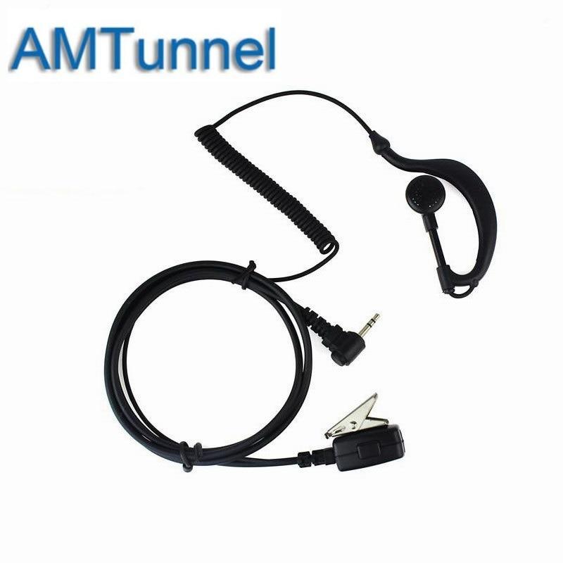 PTT MIC Radio Earpiece Headset 1 Pin  Hf Transceiver  For Motorola Radio Walkie Talkie T5920 T5950 T6200 T6210 T6220 T6250