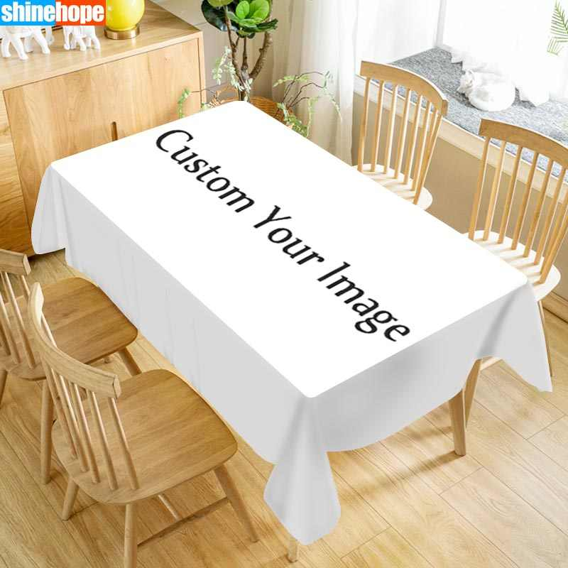 Customize Any Pattern Tablecloth Square/Rectangular Christmas/Wedding/Party/White Table Cover Anime/Flower/animal Table Cloth
