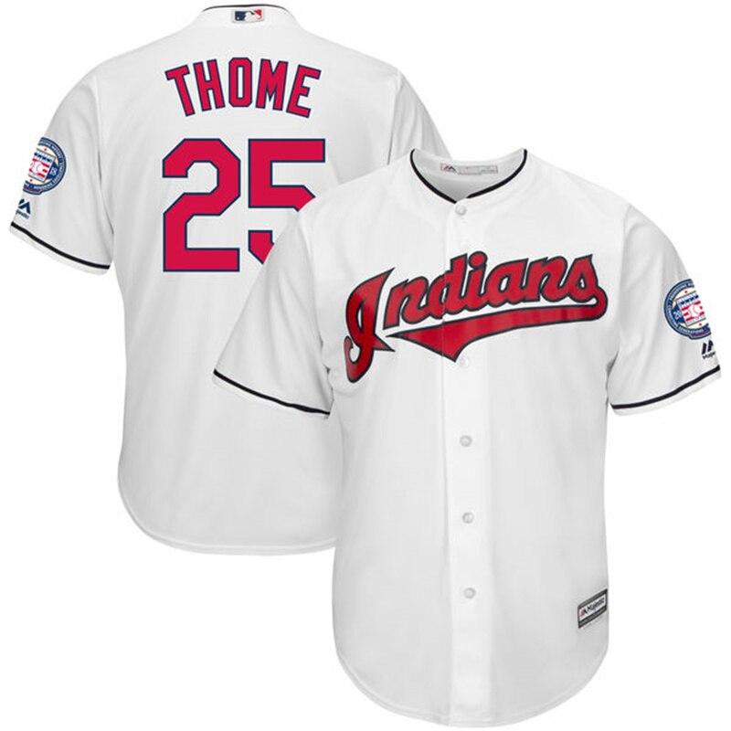 MLB Для мужчин Кливленд Индианс Джим Том Majestic белый Зал славы индукции патч Cool Base Джерси ...