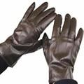 2016 FREE SHIPPING New Male fashion sheepskin genuine leather coffee genuine leather finger gloves super soft sheepskin gloves