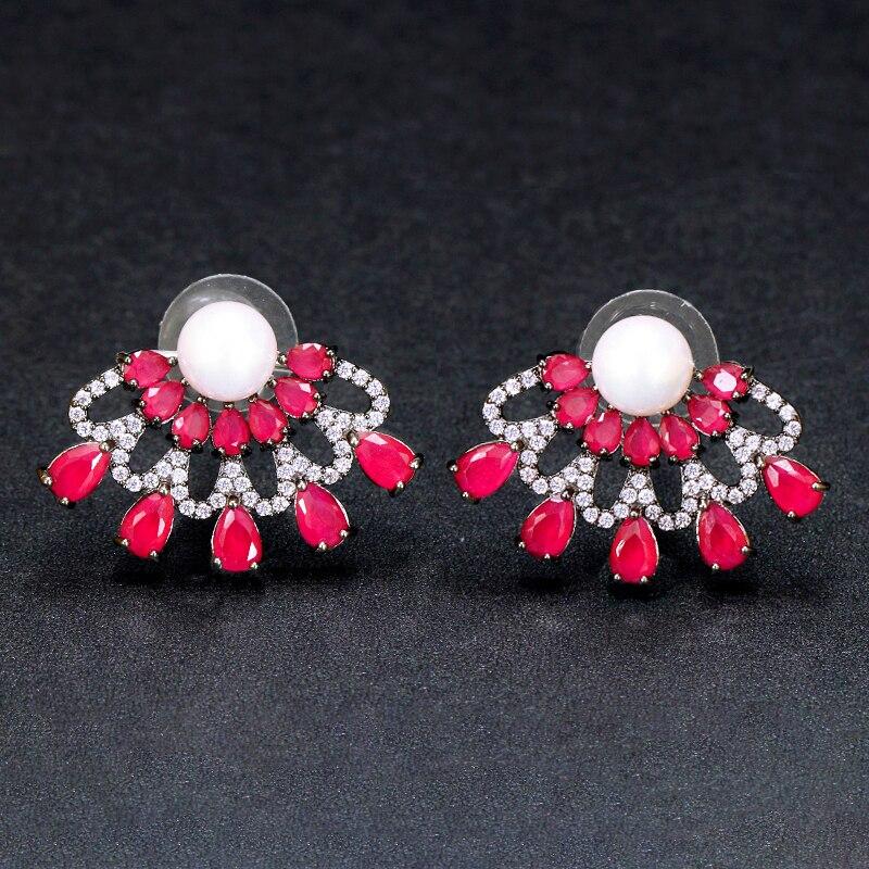 Ruby Red Stud Earrings3