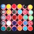 Pro 30 PCS Mix Colors Pearl UV Builder Gel Acrylic Nail Art Sets for Nail Tips Pink