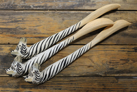 Free Shipping New Arrival 30cm Cute Zebra Dog Zebra Shoe Horns Pure Hand Wood Engraving Plus