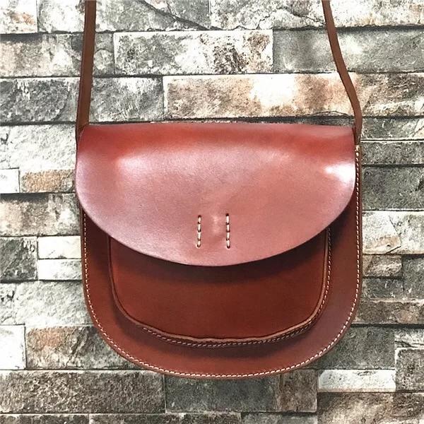 011ae02364641 Archiwalne Projektant Prawdziwa Skóra Bydlęca kobiet Mała Czarna Tan Torba  Na Ramię Saddle Bag Kobiece Panie