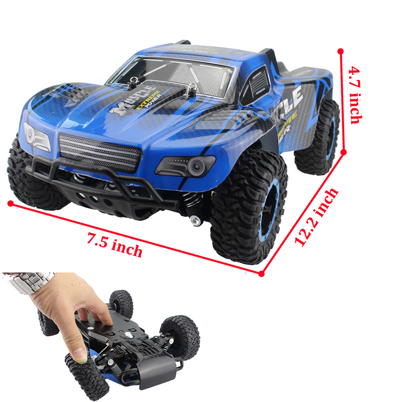 US $26 51 49% OFF|RC Cars Muscle Extreme Monster Truck 2 4G Remote Control  Speed Racing Car 4 Wheel Independent Suspension Electronic Hobby Toy-in RC