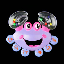Kids Baby Crab Design Handbell Musical Instrument Jingle Shaking Rattle Toy YKS Hot Selling