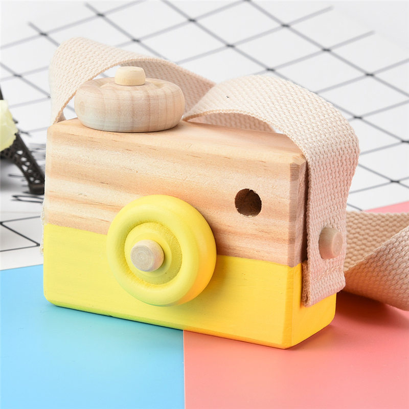 Wooden Toy Camera Kids Creative Neck Hanging Rope Toy