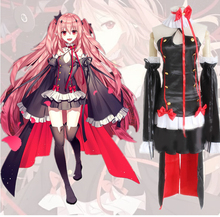 Krul Tepes Cosplay Anime Seraph of The End Owari no Seraph Third Ancestor Vampire Black Sexy Costume