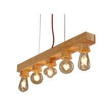 Pure Natural Wood Makes Pendant lamp 5 Lights Wood Lamp Modern Pendant Lamp Vintage Pendant Light Free Shipping(DO-40)