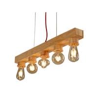 Pure Natural Wood Makes Pendant lamp 5 Lights Wood Lamp Modern Pendant Lamp Vintage Pendant Light Free Shipping(DO 40)