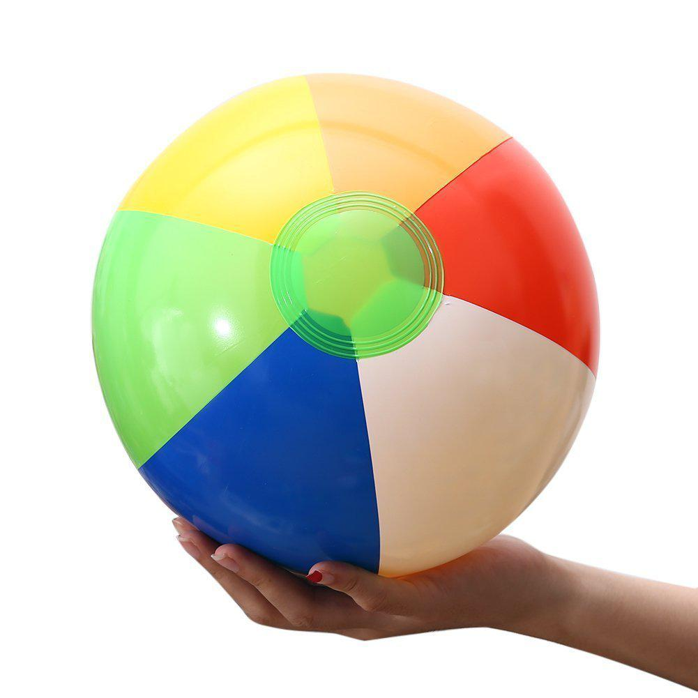 1Pcs 20CM Rainbow-Color Inflatable Beach Ball Kid's Water Birthday New Year Christmas Halloween Gift Toy