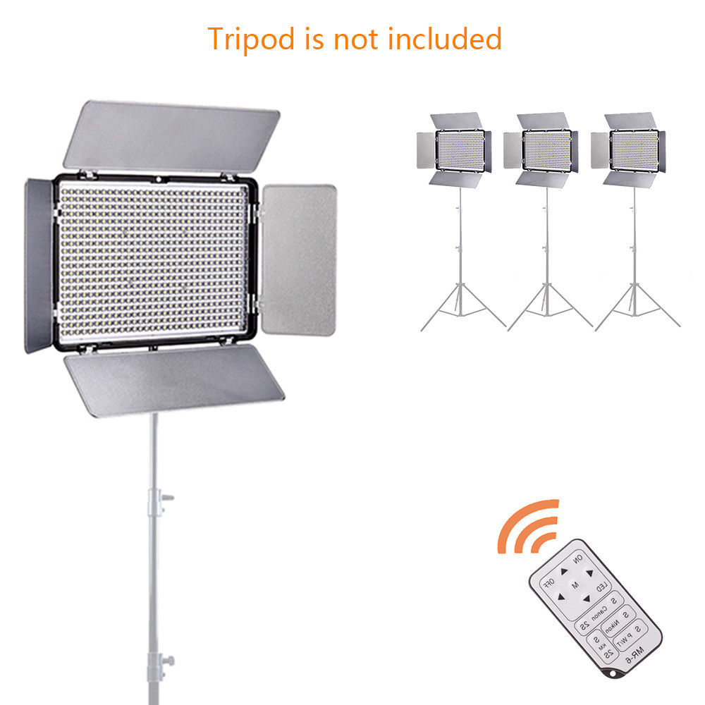 Pro 600 LED Video Light 5600K Lamp Panel Dimmable Battery For Nikon D600 D700 D800 D3400