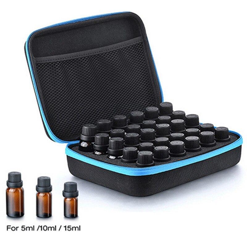 30-Bottle Caso Carrying Titular 5ML10ML Óleo Essencial 15 ML de Óleo de Perfume de Viagem Organizador Saco De Armazenamento Caixa De Armazenamento De Unha Polonês