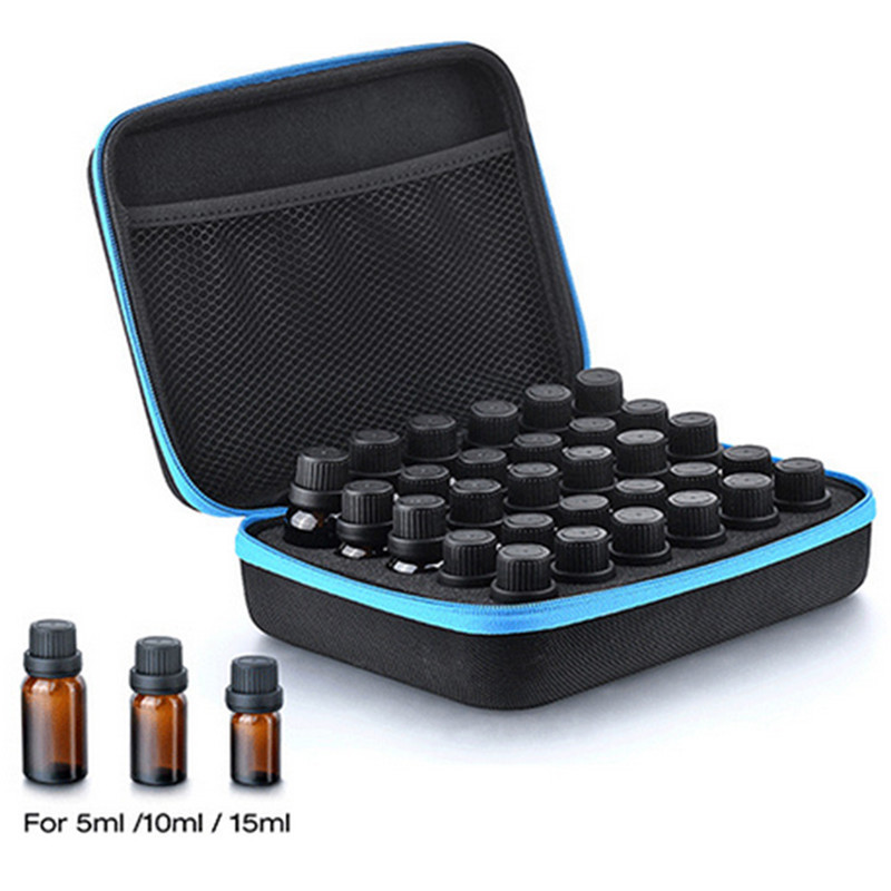 30-Bottle Essential Oil Case Carrying Holder 5ML10ML 15ML Perfume Oil Travel Storage Box Nail Polish Organizer Storage Bag