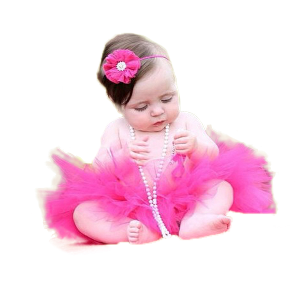 Princess coloring set - 16 Color Newborn Infant Baby Tutu Skirt With Headband Kids Baby Tutu Set For Photo Prop Fluffy Tulle Skirt For 12 18 Month Pt73