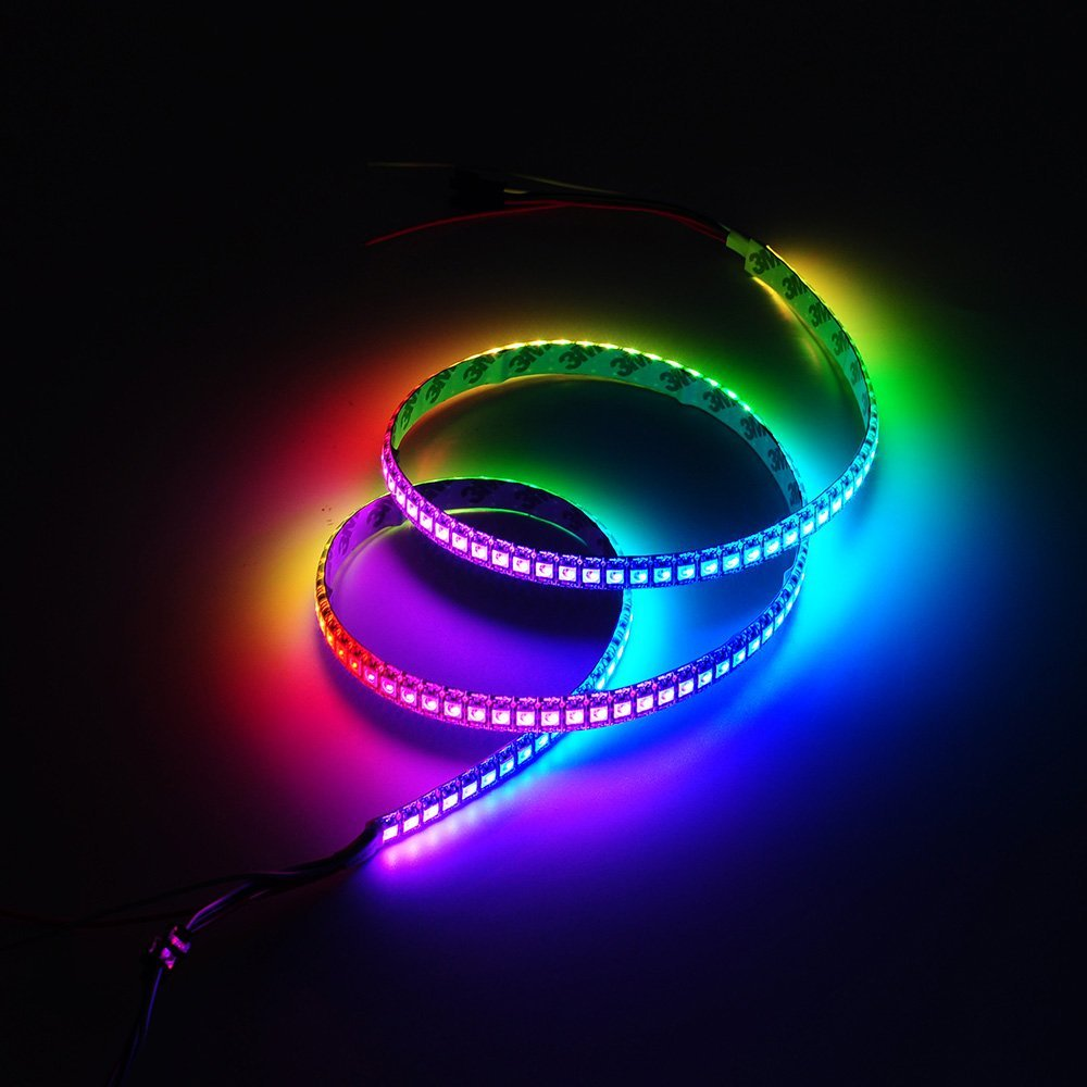 Addressable WS2812B pixel strip light individually WS2811 ic Built-in RGB DC5V 30/60/144 led/m led band led stripe neon light 5m микросхема cm2801b led ic