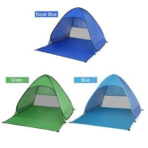 Image 4 - خيمة للشاطئ منبثقة أوتوماتيكيًا من Lixada خفيفة الوزن للحماية من الأشعة فوق البنفسجية للاستخدام الخارجي والتخييم والصيد خيمة كابانا للشمس