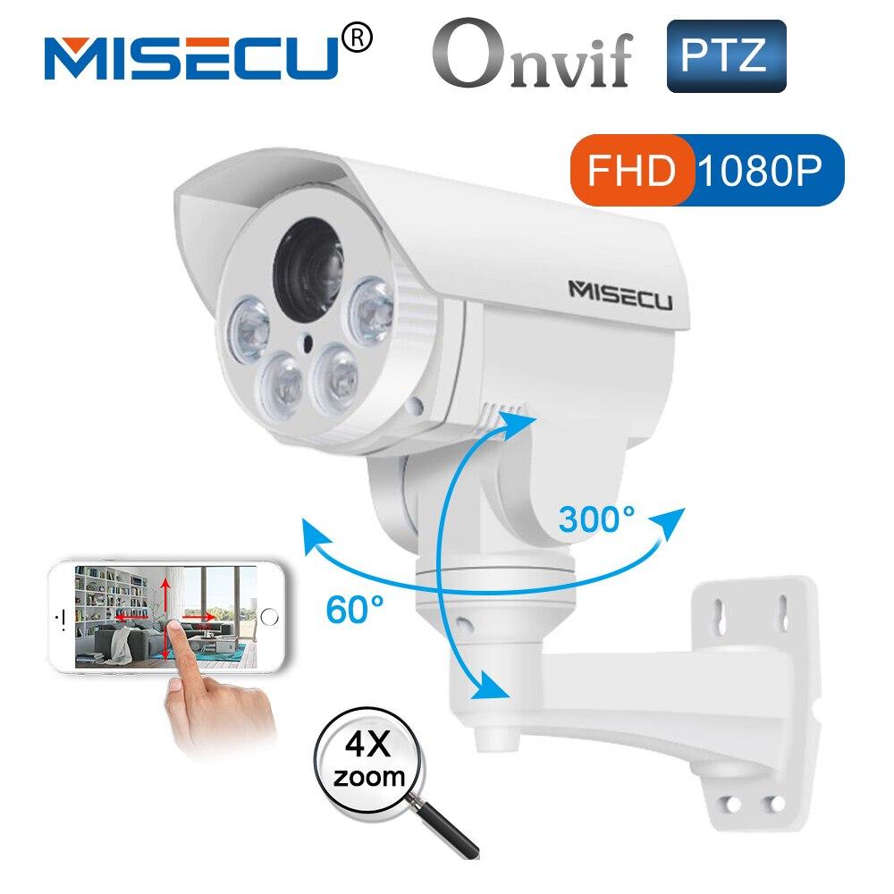 PTZ lP Fotocamera 4x ottico Pan Tilt Zoom Automatico 2.8-12mm di Sony IMX222 2.0MP FULL HD IP Onvif p2P di Visione Notturna 4 pz Array led di sicurezza